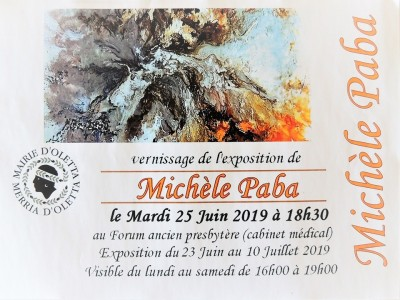 Michèle Paba expose ses oeuvres à Oletta