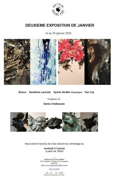 Deuxième exposition de Janvier - Galerie Noir et Blanc - Bastia
