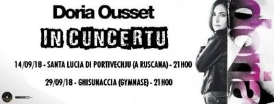 Doria Ousset en concert à Ghisonaccia