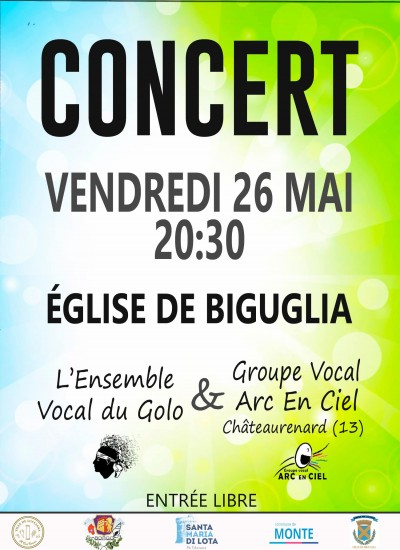 Ensemble VOCAL DU GOLO‎ & Groupe Vocal ARC EN CIEL en Concert à Biguglia