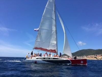 Le pays d'Ajaccio fête le printemps - le golfe d'Ajaccio et les îles sanguinaires en maxi catamaran
