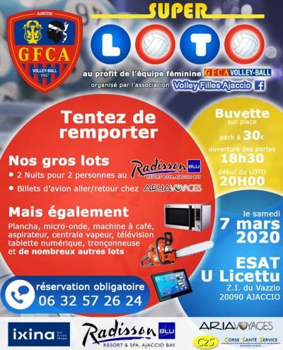 Loto - GFCA Volley-Ball - E.S.A.T U Licettu - Ajaccio