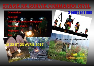 Stage de survie commando civil