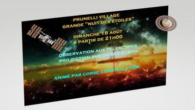 Grande nuit des étoiles - Prunelli-di-Fiumorbu