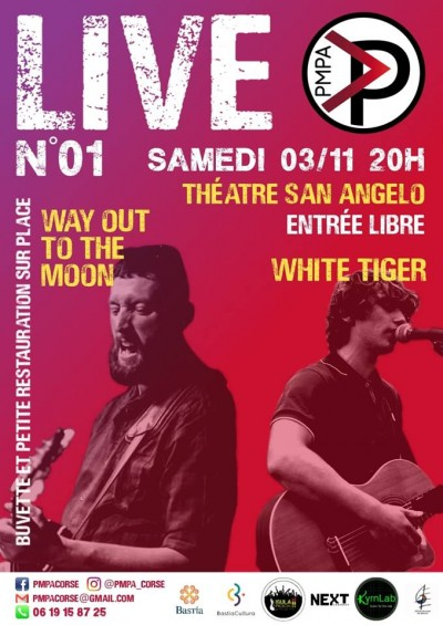 PMPA - White Tiger & Way Out To The Moon en live - Théâtre Sant'Angelo - Bastia