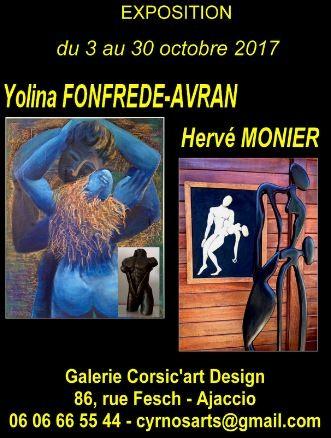 Expositions de Yolina FONFREDE-AVRAN et de Hervé MONIER