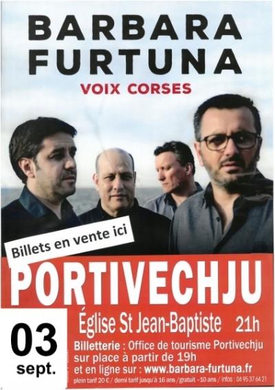 Barbara Furtuna en concert à Porto-Vecchio
