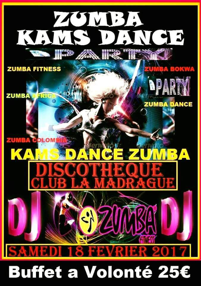 Zumba kams dance party corsevent for Sideboard zumba