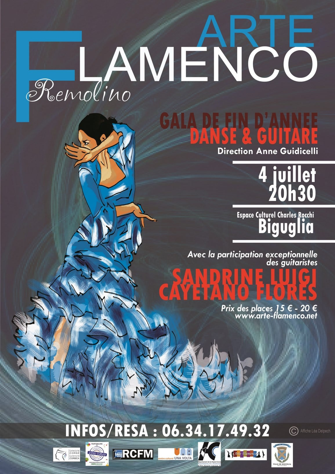 Expositions, et spectacle Flamenco Danse et Guitare : REMOLINO
