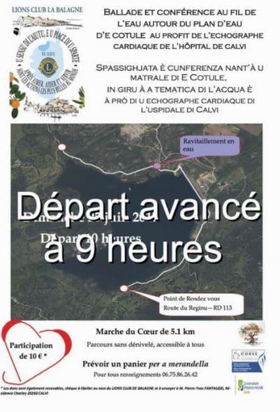 """""""Marche pour le cœur"""" Au profit-du centre hospitalier Calvi-Balagne"""