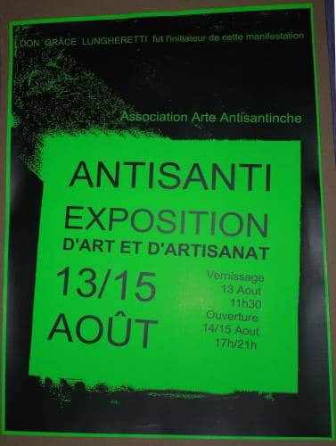 VILLAGE EXPOSITION À ANTISANTI