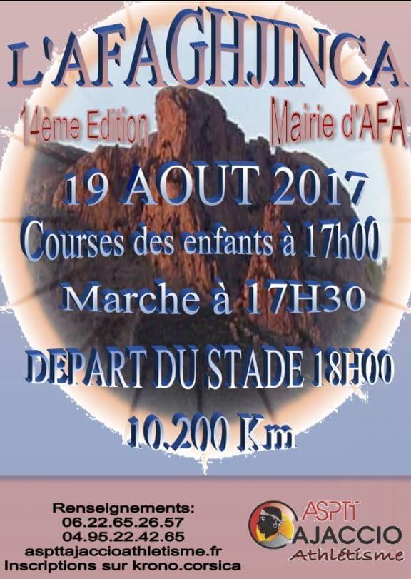 """14° édition de la course """"l'Afaghjinca"""""""