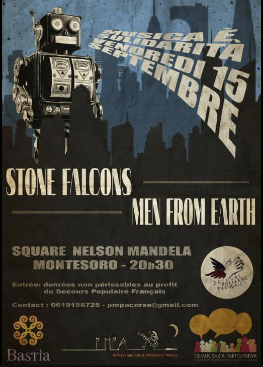 Concert Solidaire - Men From Earth - Stone Falcons