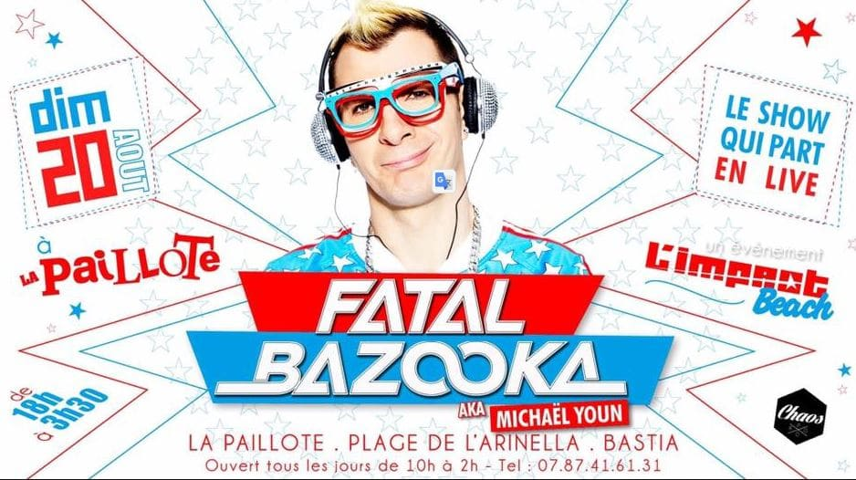 Kitsch Party avec Fatal Bazooka à l'Impact Beach