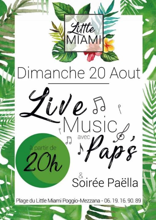 Live Music avec Pap's au Little Miami