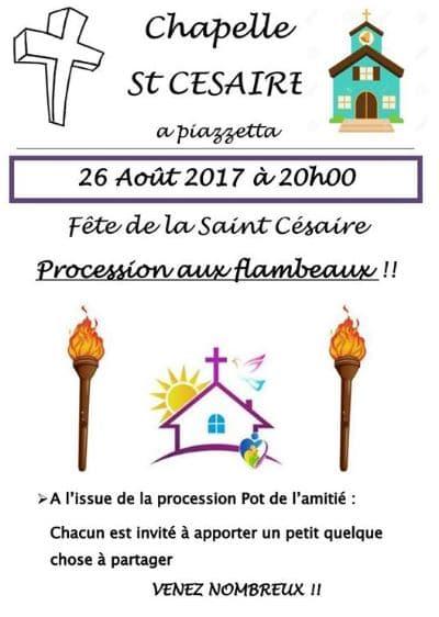 Procession de la St Césaire à Moltifao