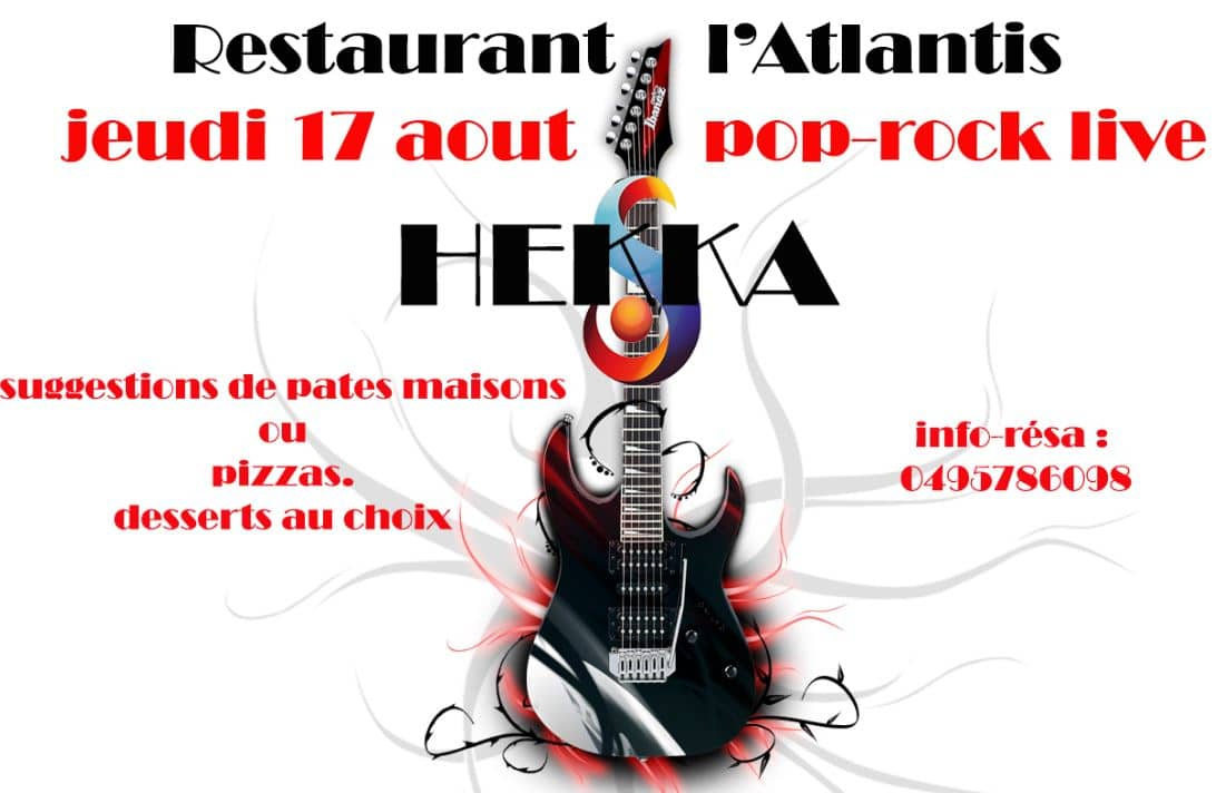 Soirée Pop Rock Live HEKKA à L'Atlantis