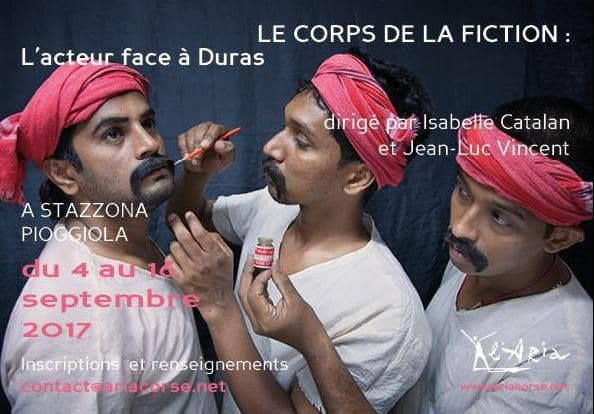 Stage « Le corps de la fiction : L'acteur face à Duras »