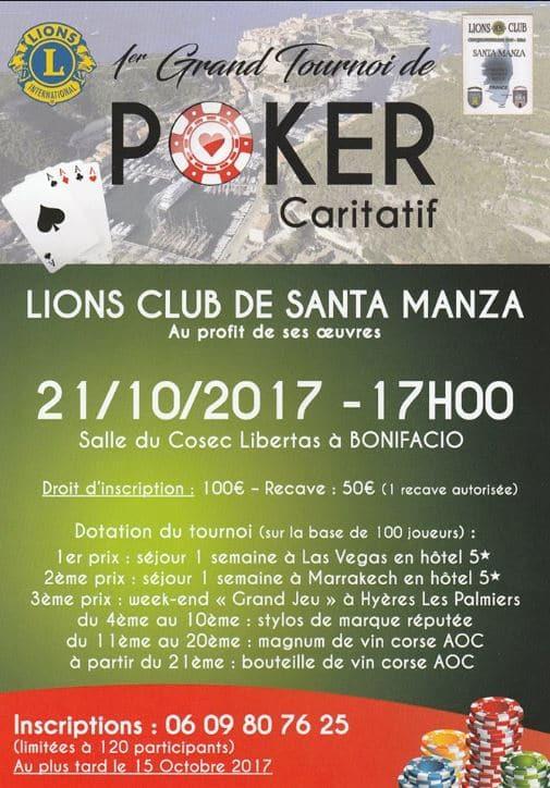 1° Grand Tournoi caritatif de Poker