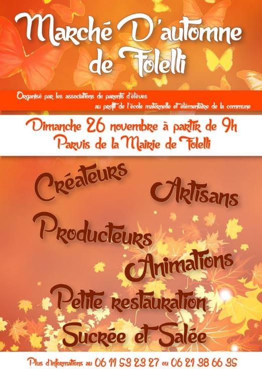 1er marché d'automne à Folelli