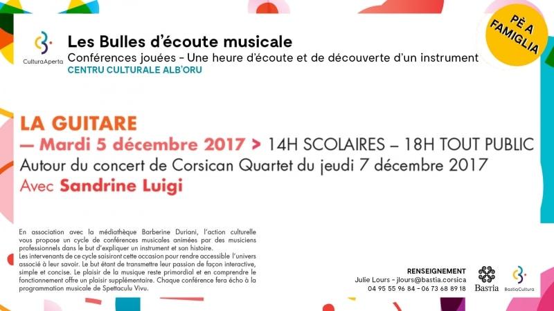 BULLE D'ÉCOUTE MUSICALE : LA GUITARE