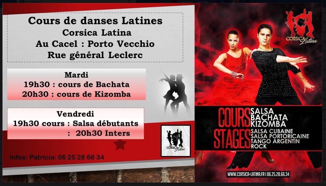 Cours de danses latines Corsica Latina au CACEL