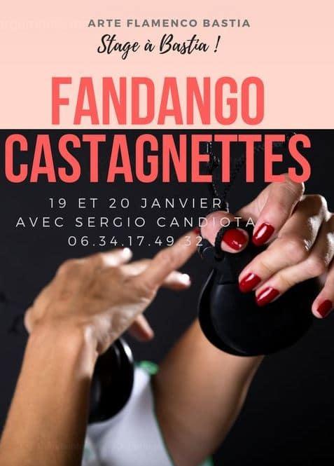 Stage Fandago Castagnettes chez Arte Flamenco Bastia
