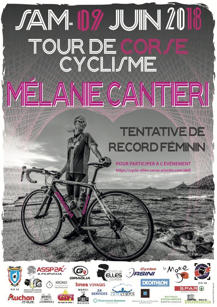 Tour de Corse Cyclisme - Tentative de record Féminin